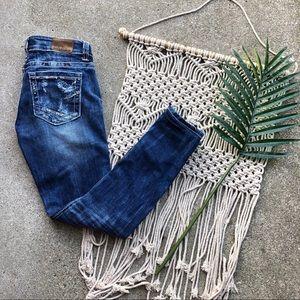 BKE Stella Jeans Size 27 Buckle Denim